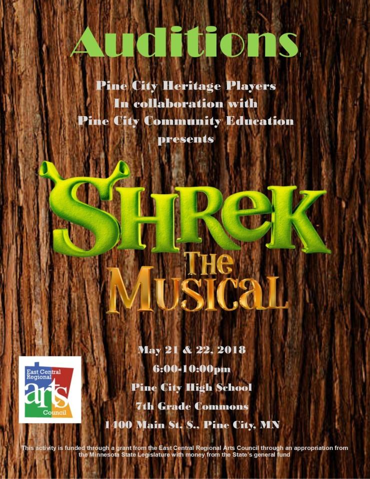 Shrek audition poster2